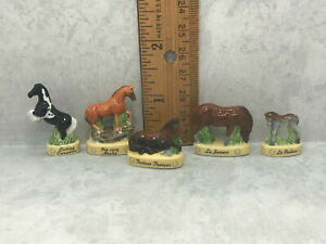 HORSE Horses Stallion Colt Mare Foal Pony  French Feves Dollhouse Miniatures