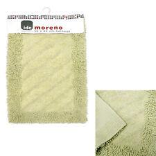 100% Cotton Moreno Bathroom Bath Mat Pear Green 50 x 80 cm