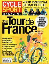 CYCLE SPORT Magazine Summer 2015 Tour De France Issue - Cervelo S5 Parlee  ESX-R