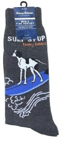 Tommy Bahama Men's Surf's Pup Surfing Dog One Pair Men's Novelty Crew Socks