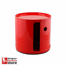 Replica Componibili Round Cabinet (1 Tier) - Red