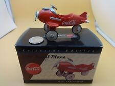 Xonex 1:18 Scale Red Coca-Cola Pursuit Pedal Plane - w/ box