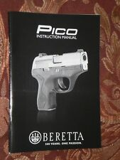 Beretta Pico Operators Manual - Genuine Oem - New