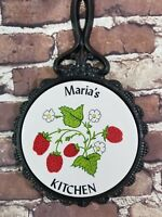 Country Kitchen Decoration Decor, Maria's Kitchen, wall plate, iron plate