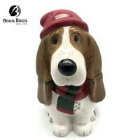 The PIONEER Woman HOLIDAY CHARLIE Bassett Hound Cookie Jar Handmade Ceramic