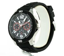 Guess Watch Men's Black Silicone Strap Watch U0967G1, New