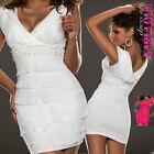New Sexy Mini Dress Trendy Summer Evening Clubbing Clothes Sz 2 4 6 8 10 XS S M