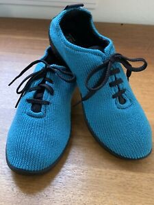 A'rcopedico 40 Vegan LS Turquoise Knit Lace Up Lightweight Comfort Sneakers EUC!