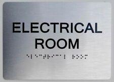 Electrical Room Ada Sign Aluminium Brush Silversize 5x7 The Senref0420