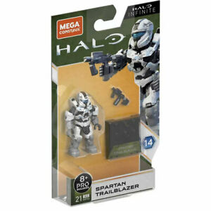 MEGA Construx Halo Infinite S14 Micro Action Figure SPARTAN TRAILBLAZER (21 Pcs)