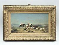 Araber zu Pferde Ölgemälde Henri Lucien Robert Arab Horseman in Landscape