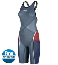 Size 32 Arena Women's Powerskin Carbon Ultra Open Back USA Edition Kneeskin