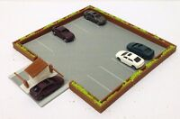 Outland Models Railroad Layout Outdoor Car Parking Lot with 5 Cars N Scale 1:160