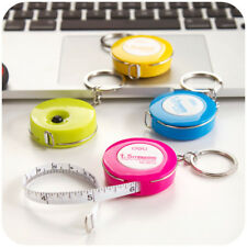 Retractable Ruler Tape Measure Sewing Cloth Dieting Tailor 150cm 60inch keychain