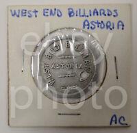 West End Billiards Astoria Oregon Aluminum Octagonal 5 cent US Trade Token #14