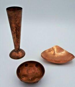 Job Lot of 3 Antique Arts & Crafts Copper Items