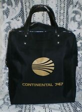 HTF Vintage Continental Airlines Flight Bag / Carry on Luggage, Black/gold