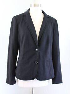 NWT $149 Talbots Womens Aberdeen Solid Black Knit Blazer Jacket Size 8
