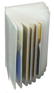 2 Clear Sleeves Plastic 6 page Insert Replacmet Credit Card Holder Trifold