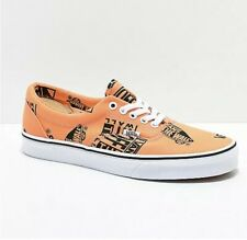 Vans Off the Wall Era Logo Mix Tangerine Black Shoes Mens 8.5 Womens 10 Sneakers