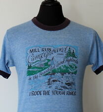 vintage 80s MILL WOOD CAMPGROUND soft T SHIRT medium RAYON TRIBLEND