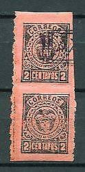 Colombia provisional 1920 Pair Imperf between ERROR UsedMNH 7603