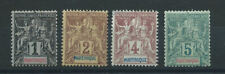 Martinique N°31/34* (MH) 1892 - (bis)