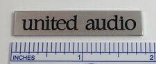 United Audio Badge Logo for Dual Turntable Base Plinth -Custom Made Aluminum