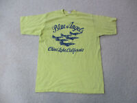 VINTAGE Blue Angels Shirt Adult Large Yellow Blue Navy Military Fighter Jet Mens
