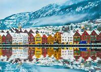 A1 Bruges Bergen Norway Poster Art Print 60 x 90cm 180gsm Norwegian Gift #16359