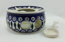 Bunzlauer Keramik Stövchen für Teekanne 1,3Liter, Teelicht, ø16cm (P089-54)