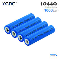 4pcs 10440 1000mAh 3.7V AAA Li-ion Rechargeable Battery For Toy Wireless Mouse