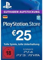 DE €25 EUR PLAYSTATION NETWORK Prepaid Card PSN PS3 PS4 PSP 25 Euro