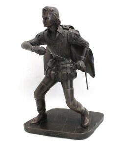 Vintage CELLINI Arts Cold Cast BRONZE Hand Made 'THE EARL OF ESSEX' Figure -W47