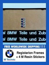 BMW M Technic Number Plate Surrounds + Stickers Nummernshildhalter + Color Code