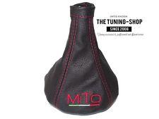 "Pour Alfa Romeo Mito 08-17 Soufflet Levier De Vitesse ""MiTo Italy"" Rouge Logo"
