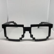 Block CPU Nerd Glasses 8Bit Pixel Video Gamer Geek Costume Party Tech Game Games