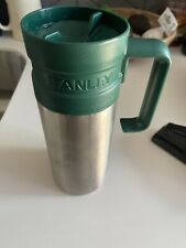 New Stanley Green Travel Stainless Steel 16 oz Thermos/Coffee Mug