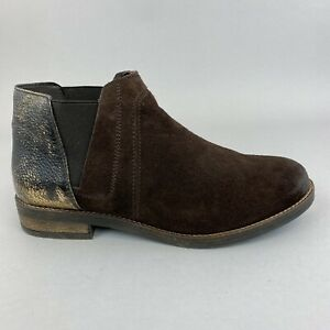 Clarks Demi Beat Dark Brown Suede Ankle Pull On Chelsea Booties Boots UK5.5 D