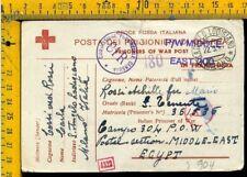 WW 2 Militare Posta Prigionieri Croce Rossa x Sant' Angelo Lodigiano Lodi I 904