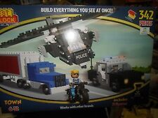 NEW 342 PIECES BEST-LOCK CONSTRUCTION POLICE PLAY SET 100%COMPATIBLE