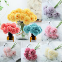 Artificial Silk Fake Peony Flowers Wedding Bridal Bouquet Hydrangea Home Decor#