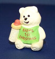 1990 Hallmark New Christmas Babys 1st Polar Bear Merry Miniature Unused Qfm1683