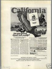 1927 PAPER AD Living & Farming In California Commercial Printing Award Winner