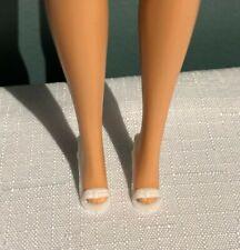 Vintage White Open Toe Pump Shoes, for Barbie & Friends
