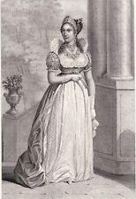 Portrait XIXe Impératrice Marie-Louise d'Autriche Napoléon Bonaparte 1840