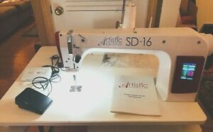 Janome Artistic SD 16 Sit Down Quilter Long Arm Machine w/ table & TruStitch