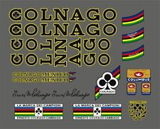 COLNAGO MEXICO FRAME DECAL SET YELLOW OUTLINE VERSION