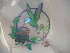 New listing Large Metal Hummingbird Art Made in Usa 26in Bright Colors