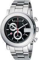 New Gucci G-Chrono Chronograph Black Dial Stainless Steel YA101309 Mens Watch